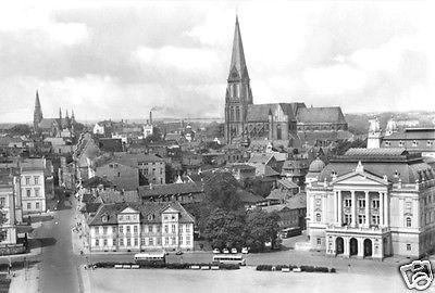Ansichtskarte, Schwerin, Blick vom Schloß auf die Altstadt, 1981