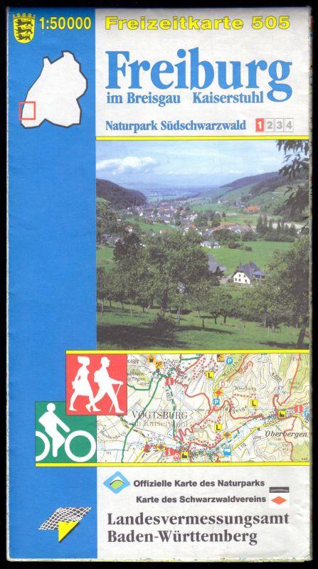 Wanderkarte, Freiburg im Breisgau - Kaiserstuhl, 2001