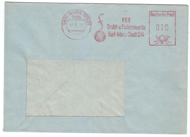 AFS, VEB Draht- u. Federnwerke Karl-Marx-Stadt O14, o Karl-Marx-Stadt, 17.8.71