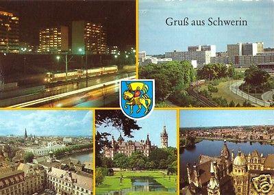 Ansichtskarte, Schwerin, Gruß aus Schwerin, fünf Abb., 1985