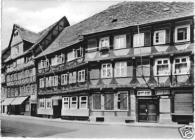 Ansichtskarte, Höxter Weser, Straßenpartie Ecke Westerbachstr., Gasthof, 1964