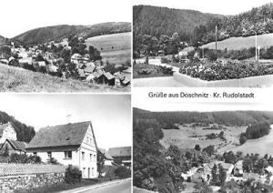 Ansichtskarte, Döschnitz Kr. Rudolstadt, 4 Abb., 1982