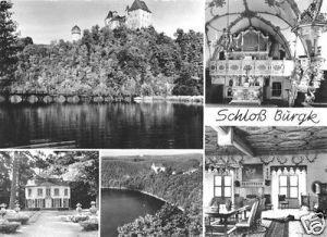 Ansichtskarte, Burgk Kreis Schleiz, Schloß Burgk, fünf Abb., 1976