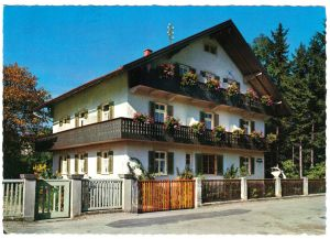 Ansichtskarte, Bad Tölz, Kurpension Bolzmacher, Kyreinstr. 11, 1989