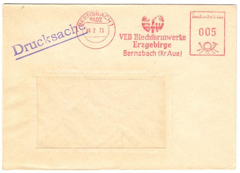 AFS, BFW, VEB Blechformwerke Erzgebirge, o Bernsbach 1, 9402, 6.2.73
