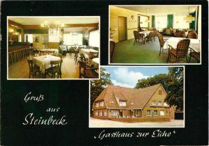 Ansichtskarte, Steinbeck Kr. Harburg, Gasthaus zur Eiche, drei Abb., 1977