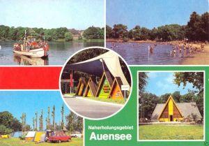 Ansichtskarte, Leipzig, Naherholungsgebiet Auensee, fünf Abb., 1982