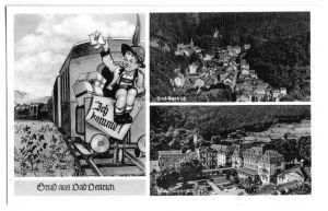 Ansichtskarte, Bad Bertrich, Gruß aus Bad Bertrich, drei Abb., 1953