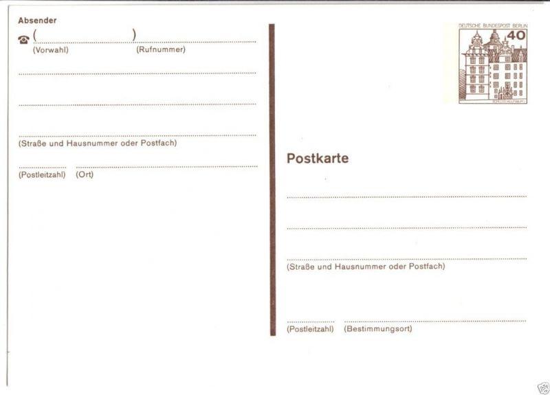 Ganzsache, Postkarte, Michel, Berlin P121, **