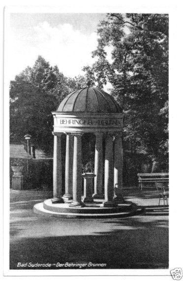Ansichtskarte, Bad Suderode, Der Behringer-Brunnen, 1951