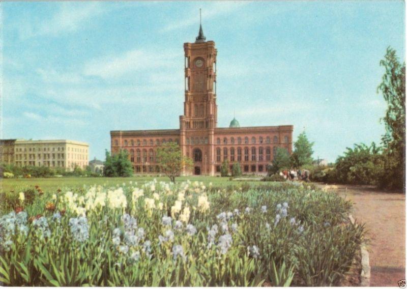 Rote Karte Berlin Mitte.Ansichtskarte Berlin Mitte Blick über Die Anlagen Zum Roten Rathaus 1967