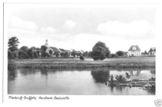 Ansichtskarte, Märkisch Buchholz, Teilansicht, Badestelle, 1956