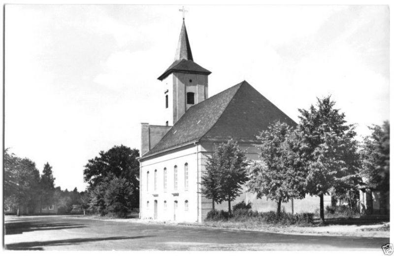 Ansichtskarte, Märkisch Buchholz, Partie mit Kirche, 1963