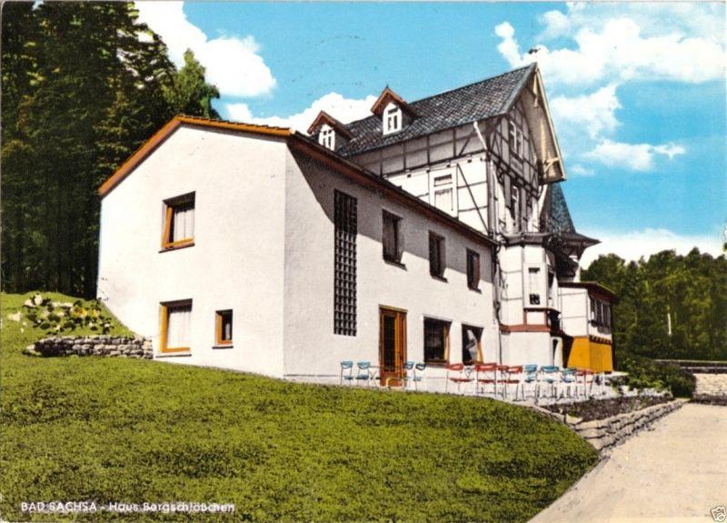 Ansichtskarte, Bad Sachsa Südharz, Haus Bergschlößchen am Kurpark, 1970