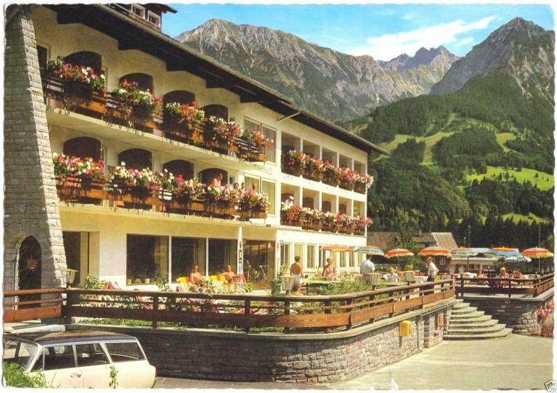 Ansichtskarte, Langenwang bei Oberstdorf Allgäu, Hotel Sonnenbichl, 1973