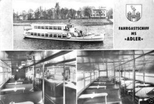 Ansichtskarte, Magdeburg, Weiße Flotte, MS Adler, 1970