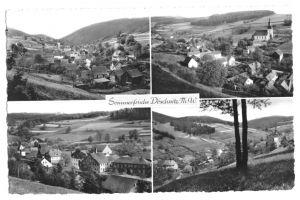 Ansichtskarte, Döschnitz Thür. Wald, vier Abb., 1960