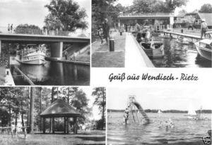 Ansichtskarte, Wendisch Rietz, vier Abb., 1980
