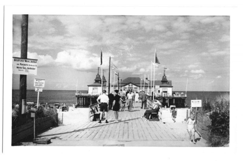 Ansichtskarte, Seebad Ahlbeck Usedom, Seebrücke, 1957