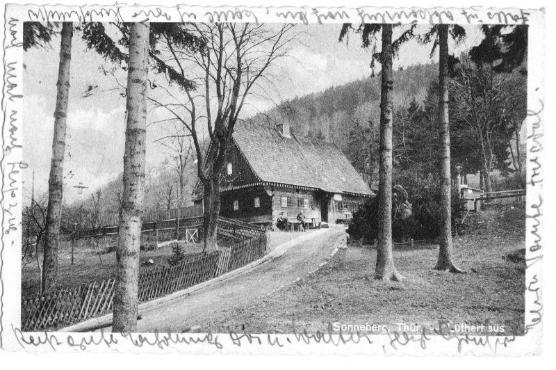 Ansichtskarte, Sonneberg Thür., Lutherhaus, um 1950