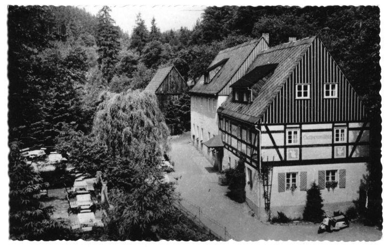 Ansichtskarte, Kleinhennersdorf Sächs. Schweiz, Liethenmühle, 1969
