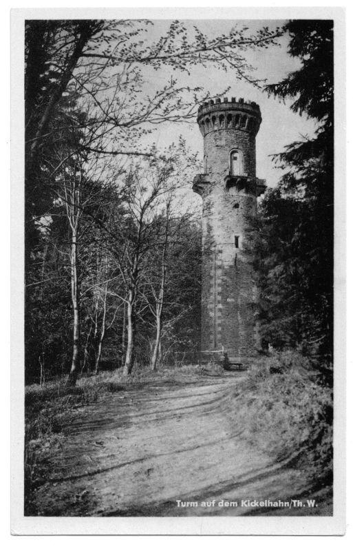 Ansichtskarte, Ilmenau Thür. Wald, Turm auf dem Kickelhahn, 1953