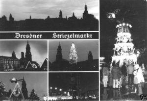 Ansichtskarte, Dresden, Striezelmarkt, sechs Abb., 1986