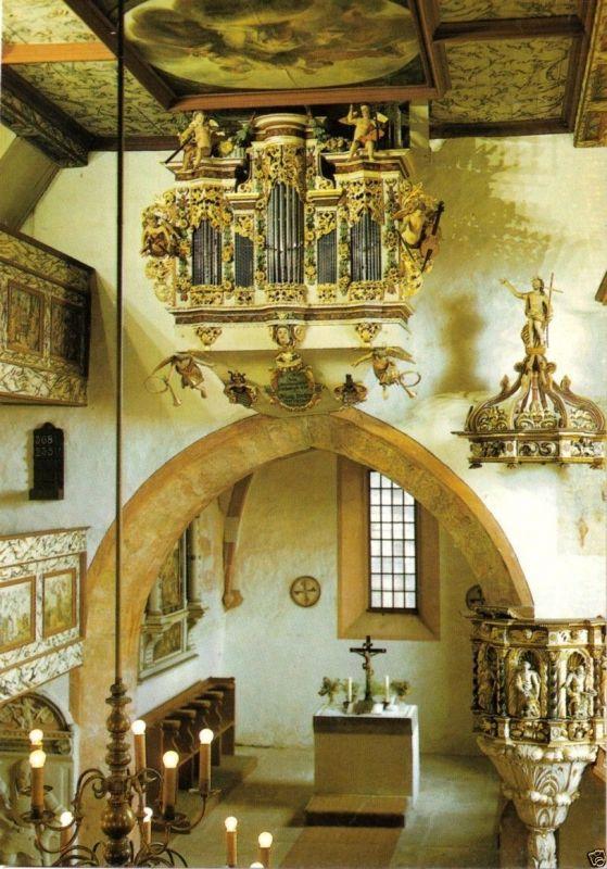 Ansichtskarte, Römhild OT Bedheim, Kilianskirche, Orgel, 1988