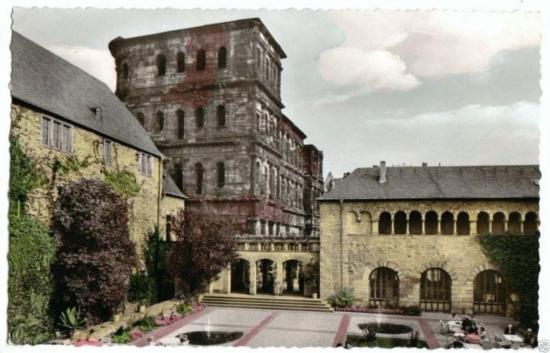 Ansichtskarte, Trier, Porta Nigra - Brunnenhof, 1961