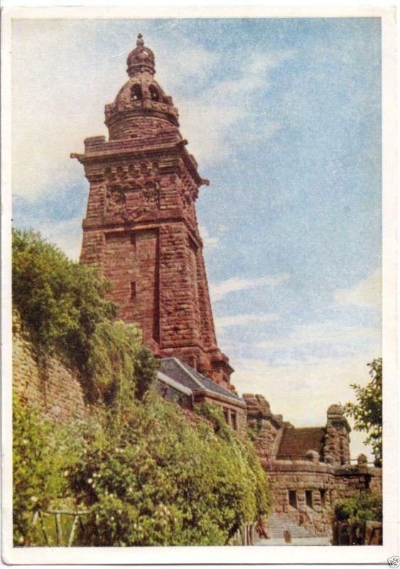 Ansichtskarte, Kyffhäuser - Denkmal, früher DDR-Farbdruck, 1954