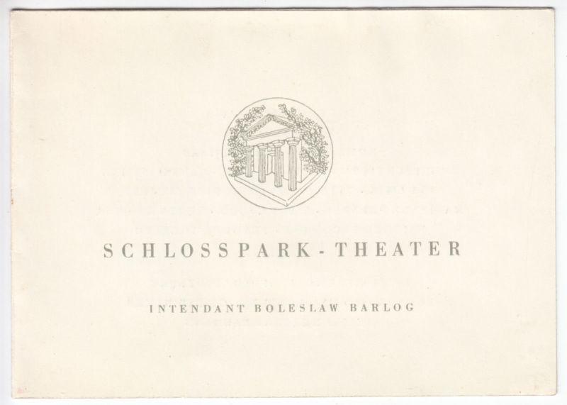 Berlin Steglitz, Schlosspark-Theater, Premieren-Einladung, Elektra, 20.2.1954