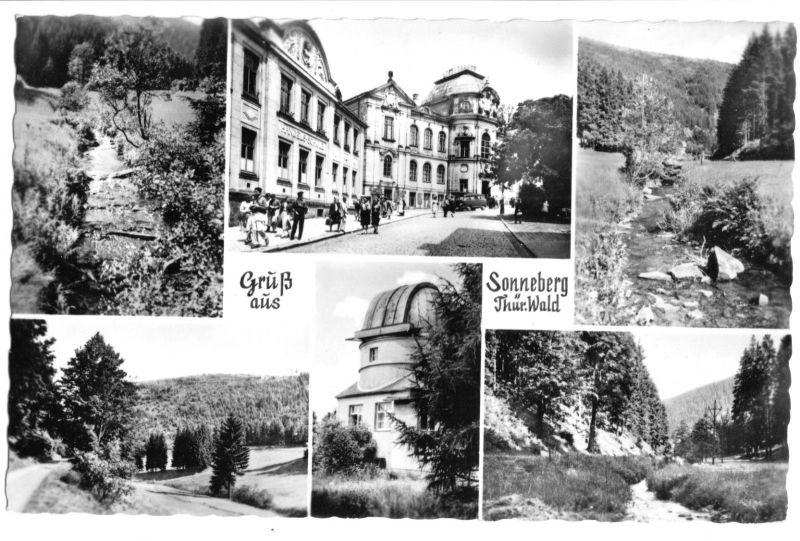 Ansichtskarte, Sonneberg Thür. Wald, sechs Abb., 1958
