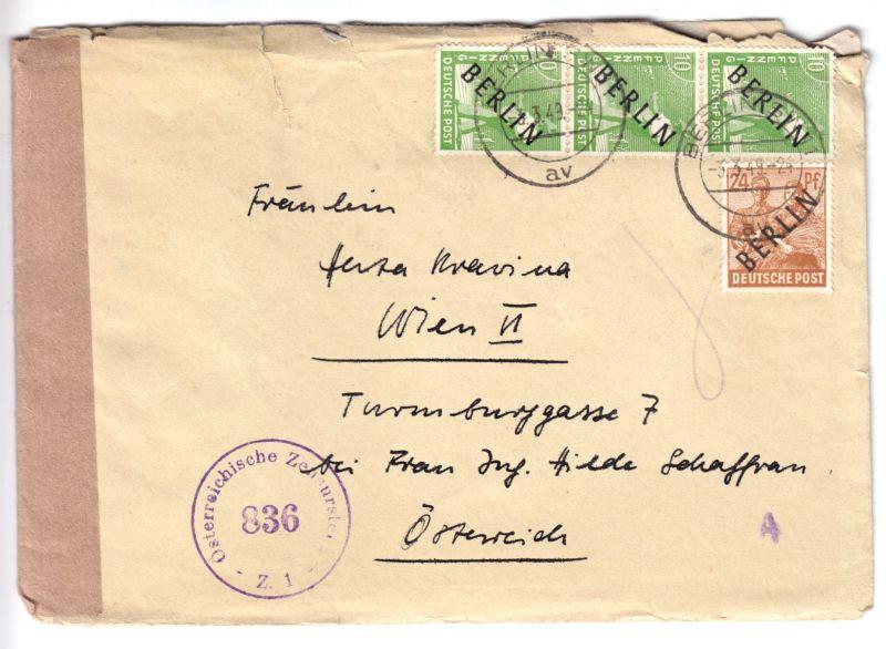 Auslands-Bedarfsbrief, Mi.-Nr. Berlin West 4 (3) MiF 9, oBerlin SW 11, 3.3.49