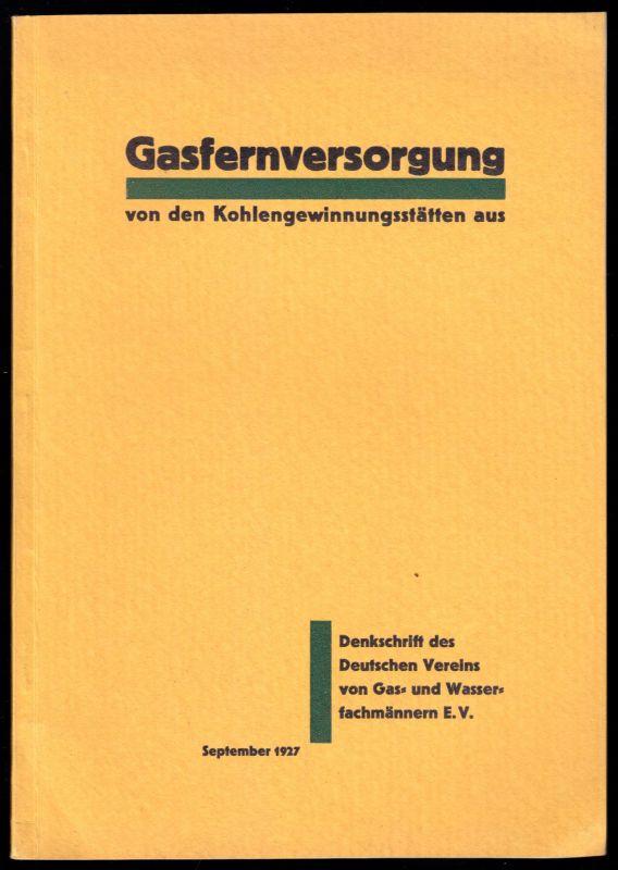 Gasfernversorgung von den Kohlengewinnungsstätten aus, Denkschrift, 1927