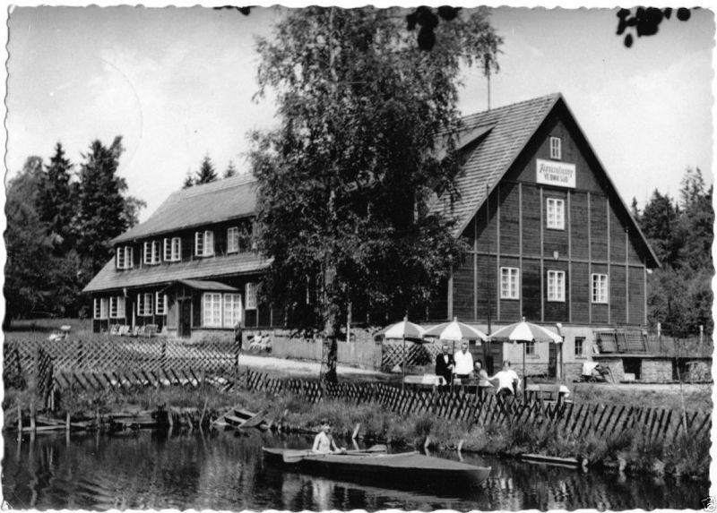 Ansichtskarte, Geyer, Erzgeb., Waldschänke, Ferieneheim des BMK Süd ...