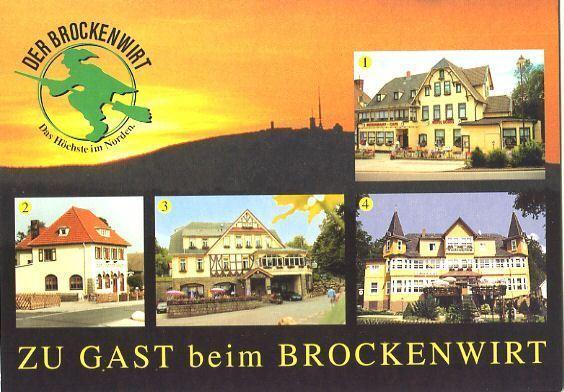 Ansichtskarte, Schierke Harz, vier Gaststättenabb., ca. 1995