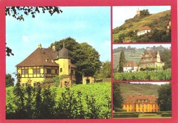 Ansichtskarte, Radebeul, 4 Abb., u.a. Jakobstein, 1986