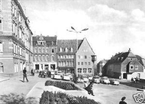 Ansichtskarte, Stollberg Erzgeb., Markt, belebt, 1977