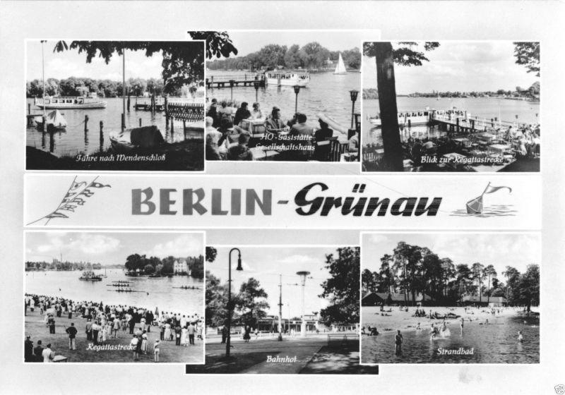 Ansichtskarte, Berlin Grünau, sechs Abb., gestaltet, 1964