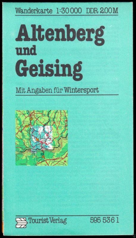 Wanderkarte, Altenberg und Geising, 1984