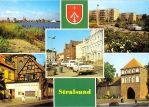 Ansichtskarte, Stralsund, 5 Abb., u.a. Leninplatz, 1987