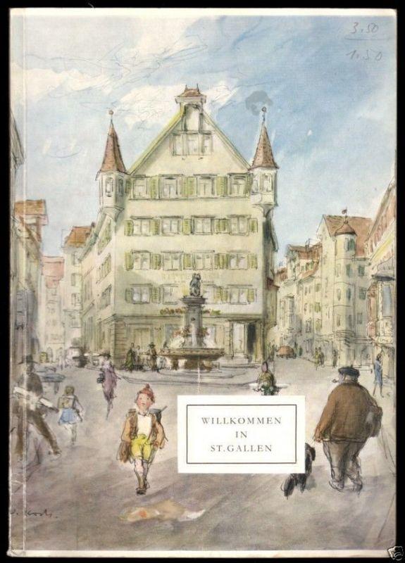 Tour. Broschüre, Willkommen in St. Gallen, 1957