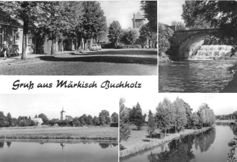 Ansichtskarte, Märkisch Buchholz Kr. Königs Wusterhausen, vier Abb., 1982