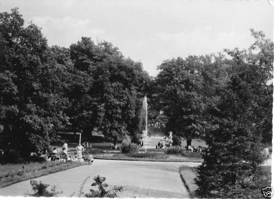 Ansichtskarte, Freiberg Sachs., Springbrunnen im Scheringerpark