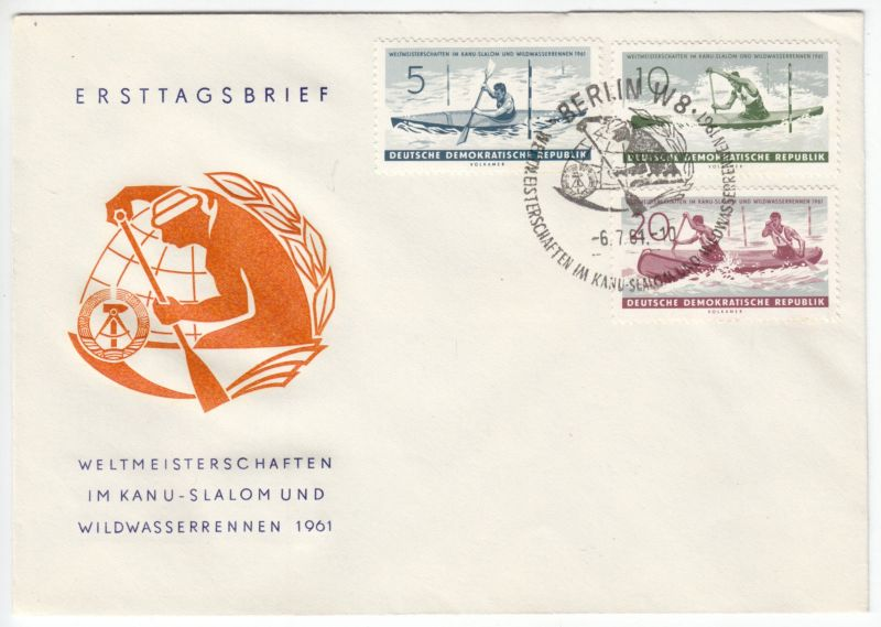 FDC, Mi.-Nr. DDR 838-40, o SSt, Berlin W 8, 6.7.61