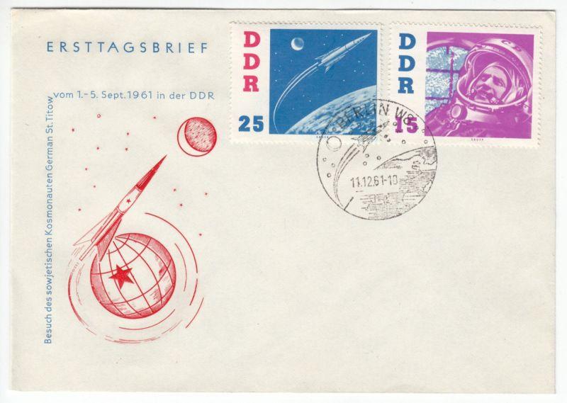 FDC (3), Mi.-Nr. DDR 863-68, o SSt, Berlin W 8, 11.12.61