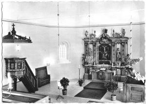 Ansichtskarte, Schönwalde am Bungsberg, Ev.Luth. Kirche, Innenansicht, 1967
