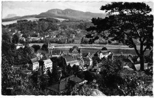 Ansichtskarte, Stadt Wehlen, Sächs. Schweiz, Teilansicht, 1960