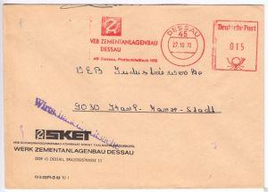 AFS, VEB Zementanlagenbau Dessau, 45 Dessau, PSF 165, o Dessau, 45, 27.10.70