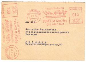 AFS, Popella KG Dresden N 23, Pressluft-Werkzeuge, o (10a) Dresden N 23, 16.6.54